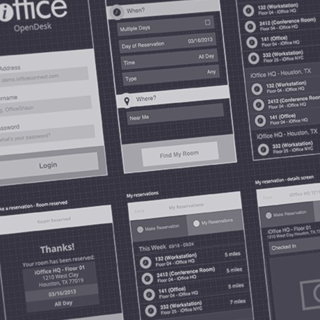 iOffice OpenSpace wireframes
